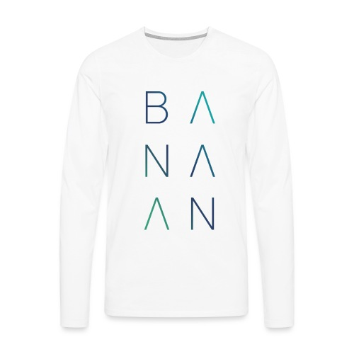 BANAAN 02 - Mannen Premium shirt met lange mouwen