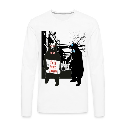 BEER BEARS - Miesten premium pitkähihainen t-paita