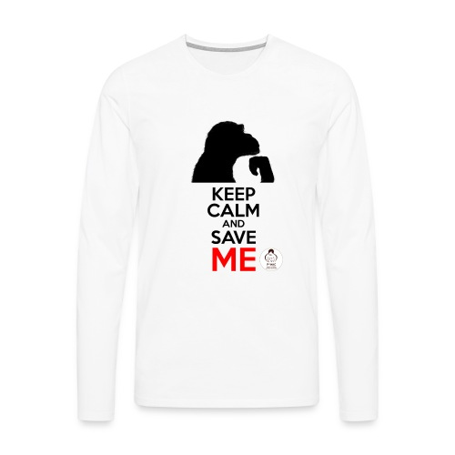 design_keep calm - T-shirt manches longues Premium Homme