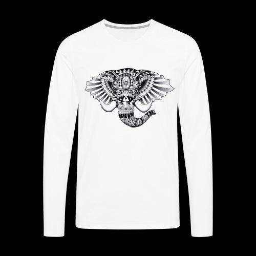Elephant Ornate Drawing - Maglietta Premium a manica lunga da uomo