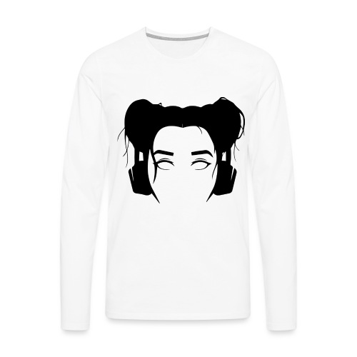 OANSVARIG - SVART - Långärmad premium-T-shirt herr