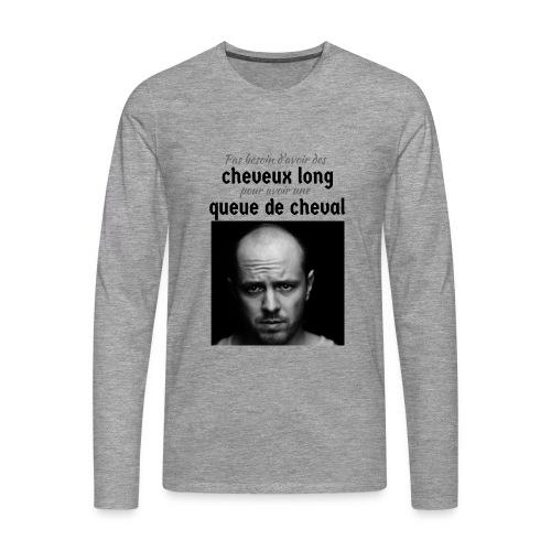 Humour Chauve ! - T-shirt manches longues Premium Homme