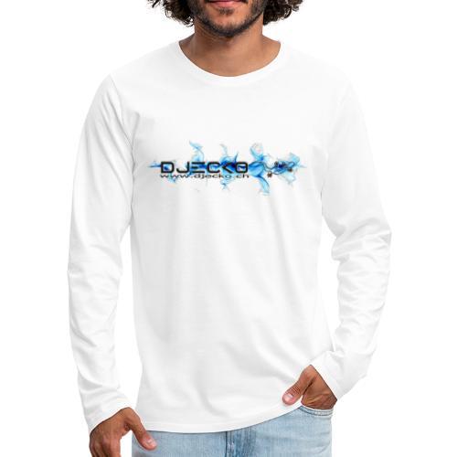 logo wave bleu fond blanc - T-shirt manches longues Premium Homme