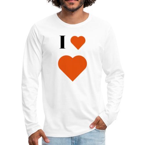 I Heart heart - Men's Premium Longsleeve Shirt