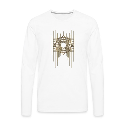 Abstract Geometry Gold Metal Art Deco Vintage - Men's Premium Longsleeve Shirt