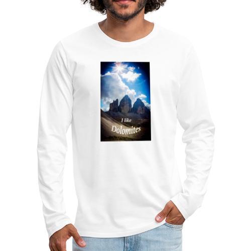 I like Dolomites Kopie - Männer Premium Langarmshirt