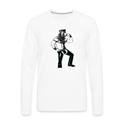Grrr leather bear - T-shirt manches longues Premium Homme