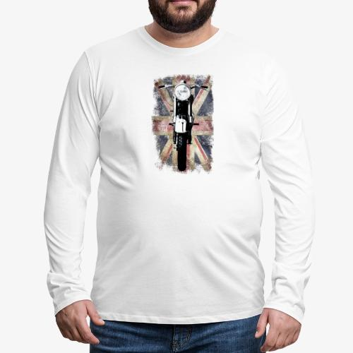 Vintage Motor Cycle BSA feature patjila - Men's Premium Longsleeve Shirt
