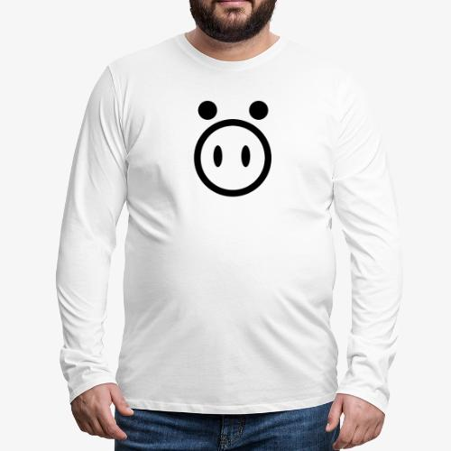 pig - Koszulka męska Premium z długim rękawem