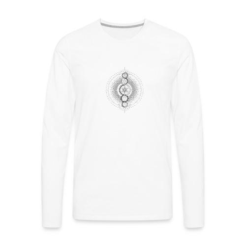 Sacred Geometry Metatron's Cube Black - Men's Premium Longsleeve Shirt