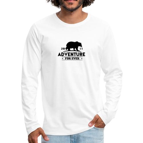 ADVENTURE FOR EVER - GRIZZLY - Maglietta Premium a manica lunga da uomo