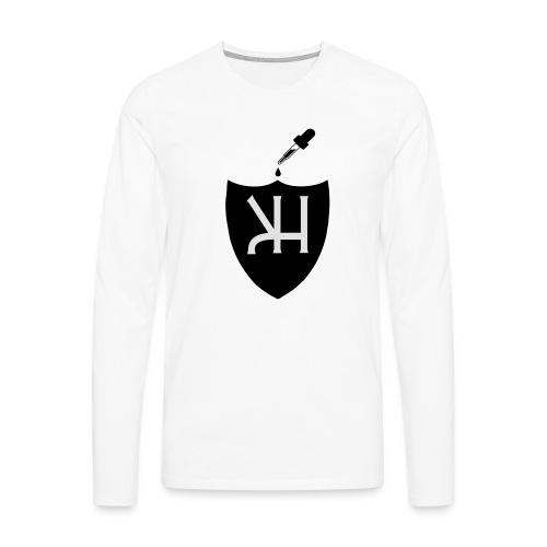 kahvimuki - Miesten premium pitkähihainen t-paita