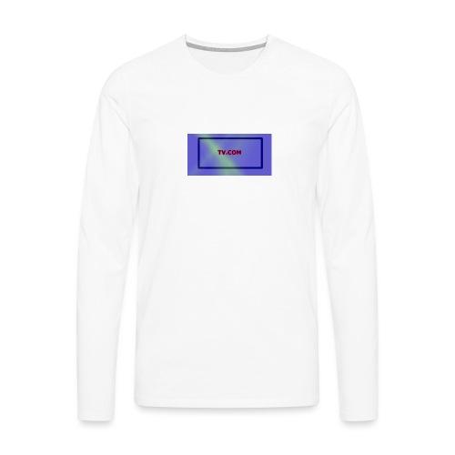 TV.COM - Miesten premium pitkähihainen t-paita