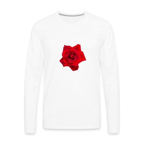 Red Roses - Koszulka męska Premium z długim rękawem