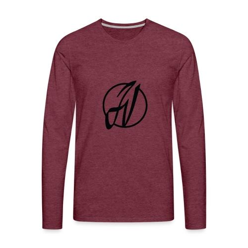 JV Guitars - logo noir - T-shirt manches longues Premium Homme