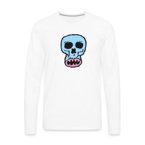 Helvetin iloinen ruulanko - Miesten premium pitkähihainen t-paita