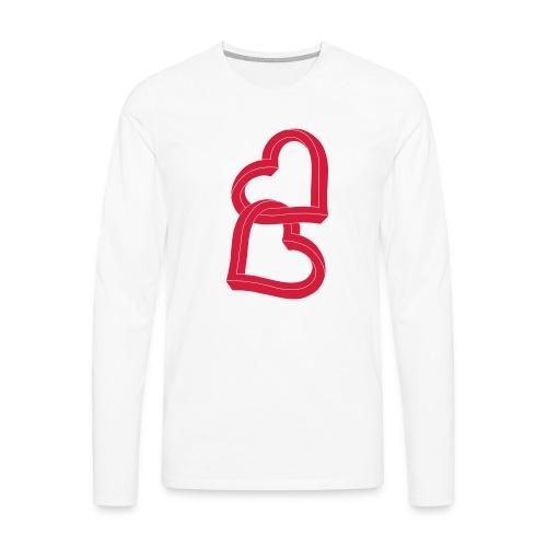Due cuori uniti ca27 - Maglietta Premium a manica lunga da uomo