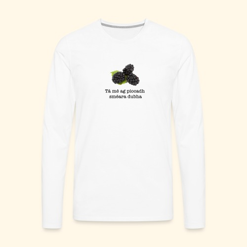 Picking blackberries - Men's Premium Longsleeve Shirt