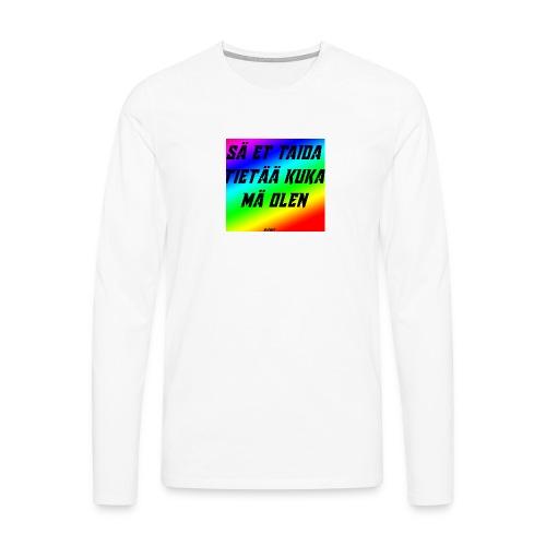 kuka olen - Miesten premium pitkähihainen t-paita