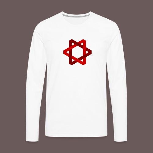 Two Triangles - Herre premium T-shirt med lange ærmer