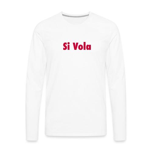 SiVola - Maglietta Premium a manica lunga da uomo