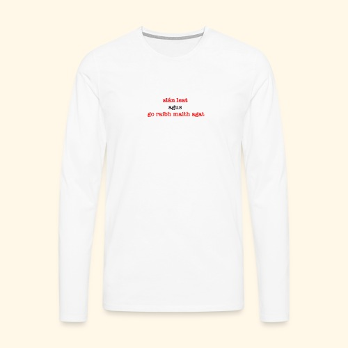 Good bye and thank you - Men's Premium Longsleeve Shirt