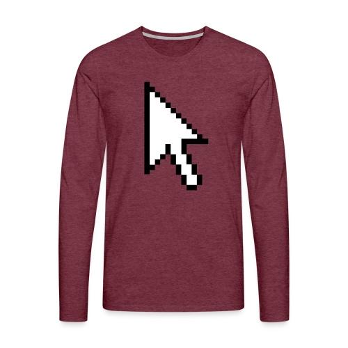 Mouse Arrow - Mannen Premium shirt met lange mouwen