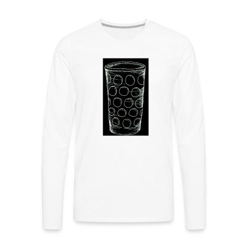 Leergut Dubbeglas -schwarz - Männer Premium Langarmshirt