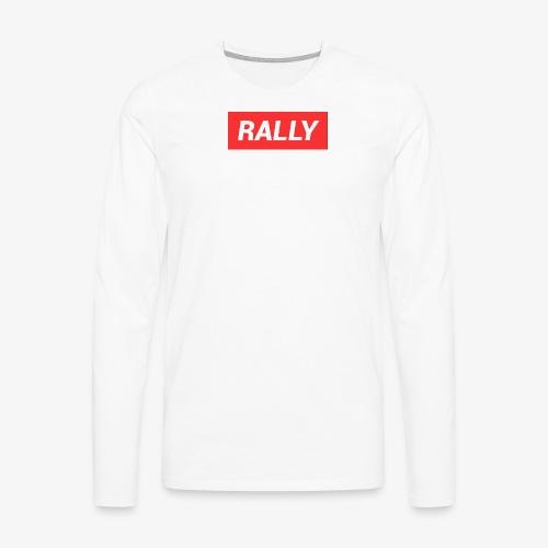Rally classic red - Långärmad premium-T-shirt herr