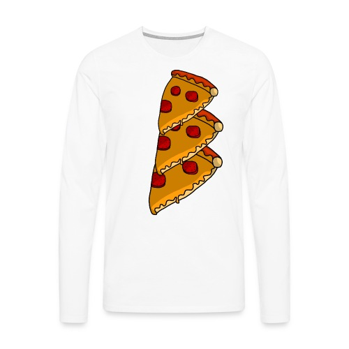 pizza - Herre premium T-shirt med lange ærmer