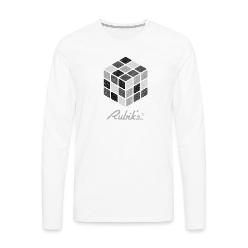 Rubik's Cube Black-And-White Print - Men's Premium Longsleeve Shirt