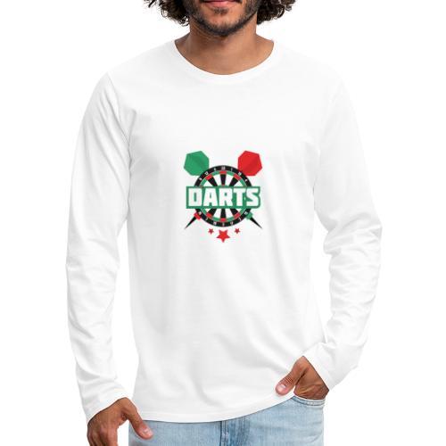 Darts - Mannen Premium shirt met lange mouwen