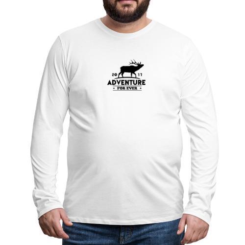 ADVENTURE FOR EVER - CERVO - Maglietta Premium a manica lunga da uomo