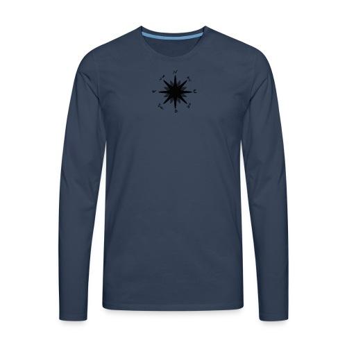 Compass bussola - Maglietta Premium a manica lunga da uomo