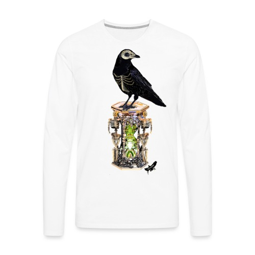 'Memento Mori' by BlackenedMoonArts - Herre premium T-shirt med lange ærmer