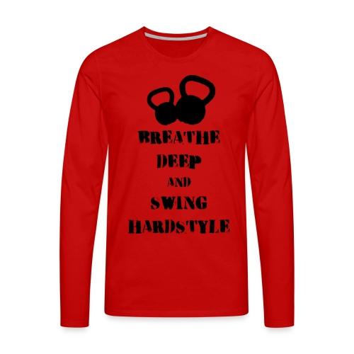 Kettlebell Breathe - Koszulka męska Premium z długim rękawem