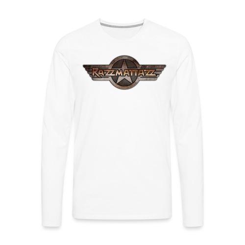 Razzmattazz Logo Fluegel und Schriftzug png - Männer Premium Langarmshirt