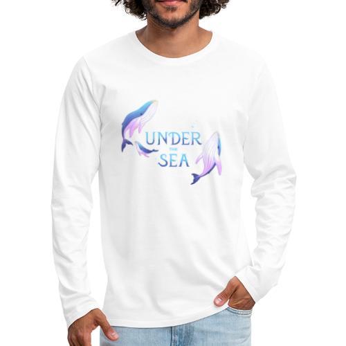 Under the Sea - Les Baleines - T-shirt manches longues Premium Homme