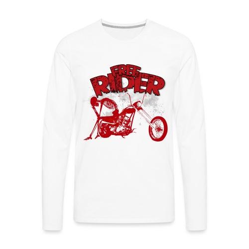FREE RIDER - Camiseta de manga larga premium hombre