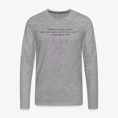 Travel quotes 5 - Men's Premium Longsleeve Shirt