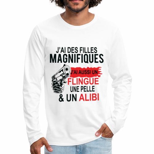 J'AI DEUX FILLES MAGNIFIQUES Best t-shirts 25% - T-shirt manches longues Premium Homme