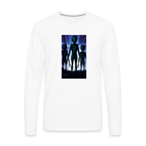 Alien 👽 - Männer Premium Langarmshirt