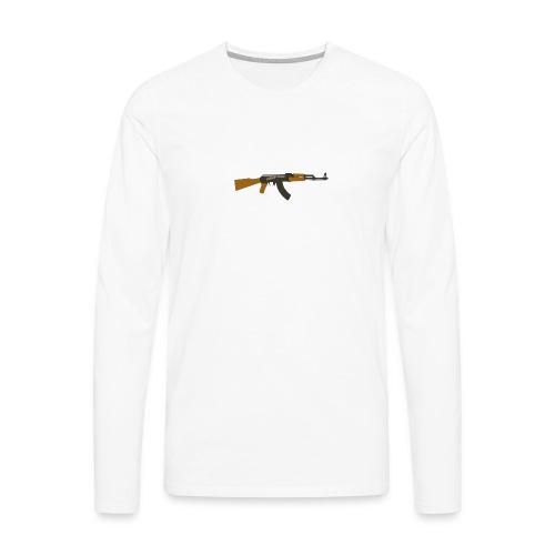 fire-cartoon-gun-bullet-arms-weapon-drawings-png - Mannen Premium shirt met lange mouwen