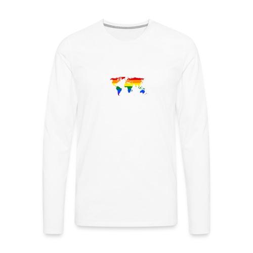 HBTQ WORLD - Långärmad premium-T-shirt herr