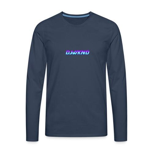 djwknd - Miesten premium pitkähihainen t-paita