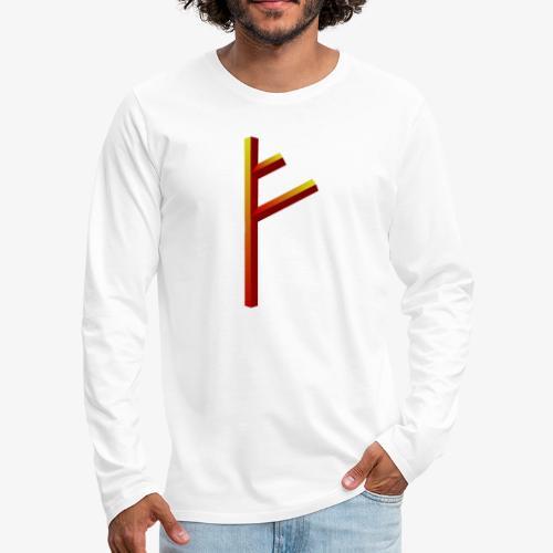 Rune Fehu - Männer Premium Langarmshirt