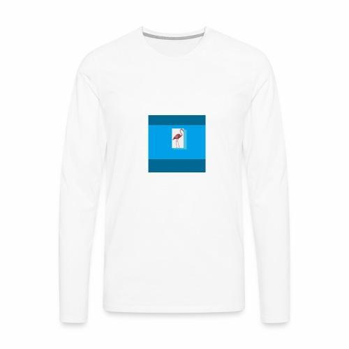 Flamingoscotteri - Maglietta Premium a manica lunga da uomo