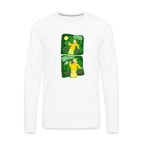 Katzenhaare - Männer Premium Langarmshirt