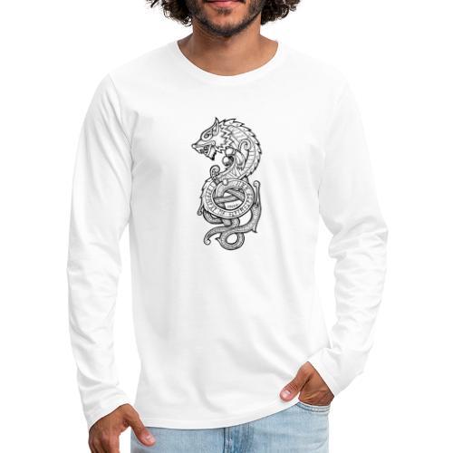 Le Loup Fenrir - T-shirt manches longues Premium Homme