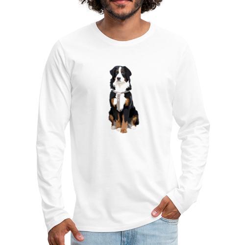Freja sitter framifrån - Långärmad premium-T-shirt herr